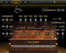 Ivory II Upright Pianos GUI